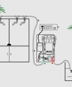 Máy bơm phun sương siêu mịn Mius Mini Thông tin sản phẩm : Xuất sứ : Hàng chính hãng Mius Kích thước : 14 x 9 x 7cm Công suất : 25W Sử dụng cho bể nhỏ dưới 90cm, chiều dài ống dây lớn nhất 5m, có thể dùng cho 1-4 béc phun sương, béc nên cách cây tối thiểu 15-25 cm để đạt hiệu quả phun sương tốt nhất. Thiết kế tuyệt vời với bơm phun có kích thước nhỏ, buồng 3 màng, động cơ nhỏ nhưng tốc độ cao nên sức bơm vẫn lớn. Phụ kiện đi kèm máy bơm bao gồm : 1 co nối chữ T + 1 co nối chữ L + 5 kẹp giữ ống + 1 kìm bấm ống dây RO + 2 đầu bịt béc cuối + 5 dây thít + 1 đầu sứ lọc nước + 1 cuộn dây ống nước RO màu đen dài 5m.